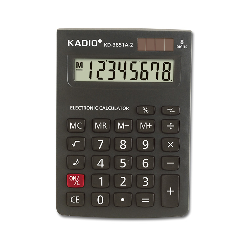 Large LCD Display 12 Digits Dual Power Source Desktop Calculator